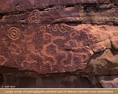 Desert Varnish Petroglyphs