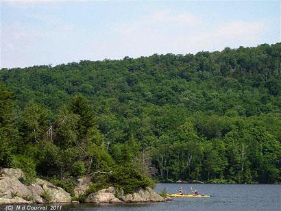 Kayaking on Lake Stukely, Orford, Quebec