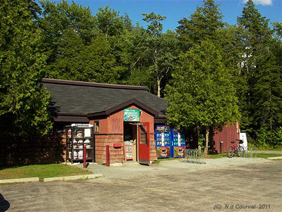 Convenience store and lecture hall at Orford, Quebec