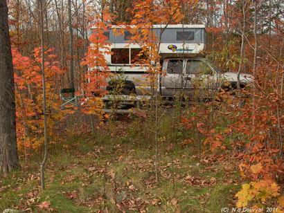 Fall campsite, Orford Park, Quebec