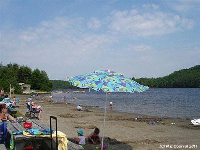 Mount Orford Park beach, Lake Stukely, Quebec