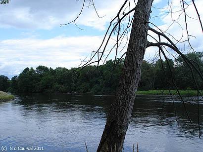 Island on ancestral land, Middlebury, Vermont