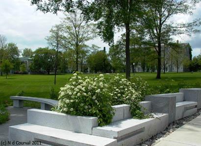 Middlebury College garden istallation