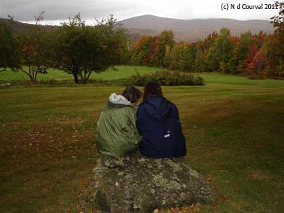 Rock in front of Robert Frost's cabin