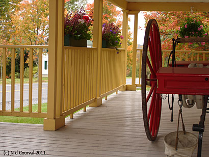 Front porch of Breadloaf Campus main building, Vermont