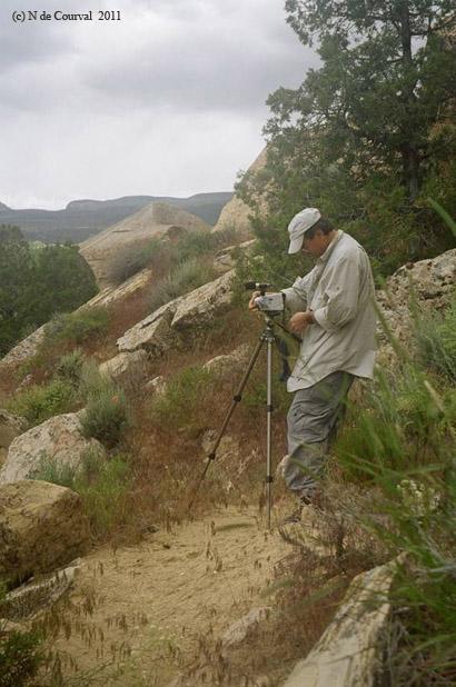 Silversand Filming Three Kings Petroglyph